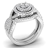 Fehu Jewel 1.05ct Natural Diamond 14k Gold Wedding and Engagement Ring for Women