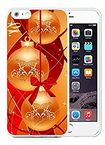 Personalized Design iPhone 6 Plus Case,Merry Christmas White iPhone 6 Plus 5.5 TPU Case 84