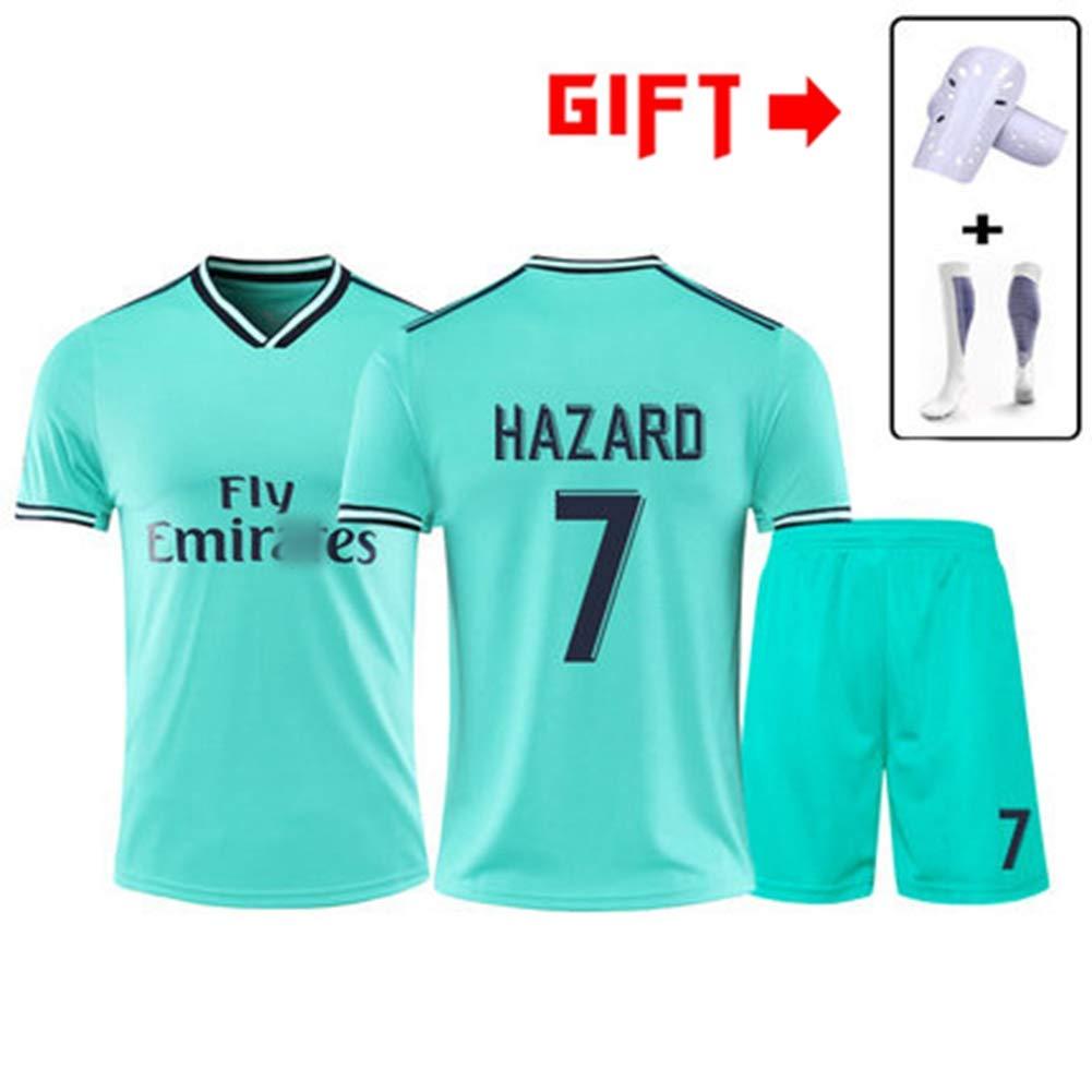 HS-HWH316 Real Madrid Club # 7 Eden Hazard Fu/ßball Anti-Falten Breathable Training Wear Sportswear Erwachsene Kinder Fu/ßball T-Shirt Fans Geschenk,2XS145~155CM