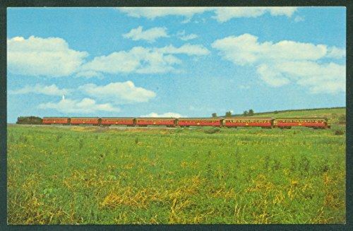 Strasburg Cherry - SEVEN RED PASSENGER COACHES Strasburg Cherry Hill Steam Train Railroad Postcard