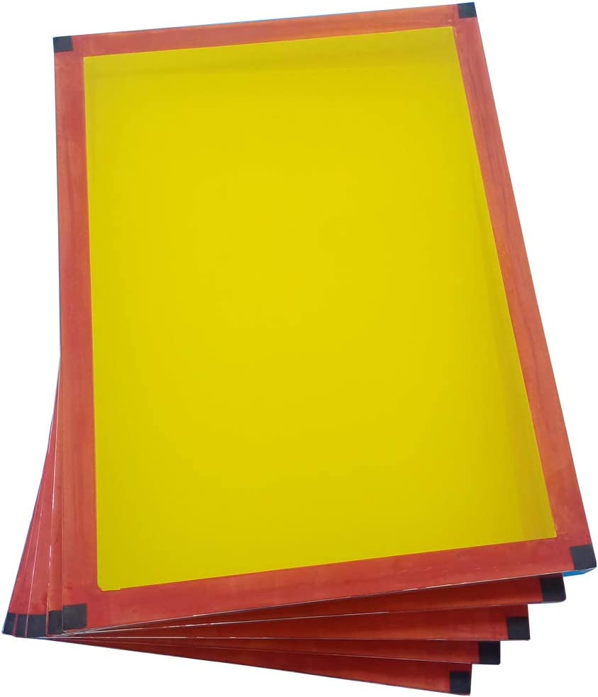 6 Pack 20x24 Screen Printing Frame with 230 Yellow MESH