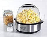 Nostalgia SP660SS 6-Quart Stainless Steel Stir-Pop Popcorn Maker