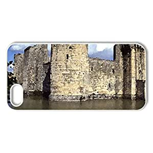 Bodiam castle and Moat east Sussex - Case Cover for iPhone 5 and 5S (Ancient Series, Watercolor style, White)