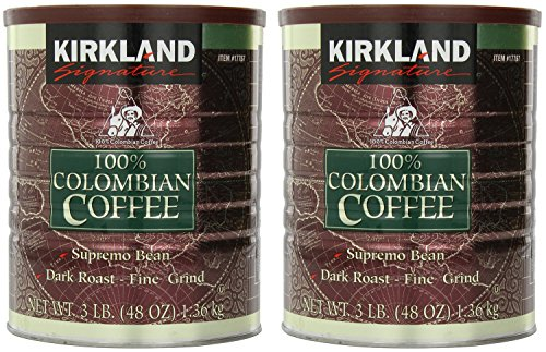 Signature 100% Colombian Coffee Supremo Bean Dark Roast-Fine Grind, 6 Pound ,Signature-ykgj