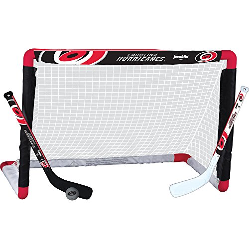 Franklin Sports NHL Carolina Hurricanes Team Mini Hockey Set Hurricane Sports Net