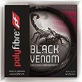 【12Mカット品】ポリファイバー ブラックヴェノム(1.15/1.20/1.25/1.30mm) 硬式テニスガットポリエステル ガットPolyfibre Black Venom (1.15/1.20/1.25/1.30)strings ブラックベノム [並行輸入品]