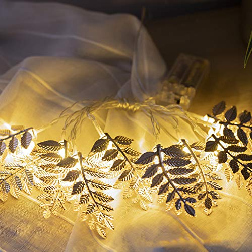 Iulove Golden Leaves Festival Decoration Light 2M 10LED
