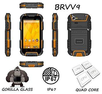 """Bravus Gorila - Teléfono robusto de 4"""" (3G, doble cámara de 8 MP"""
