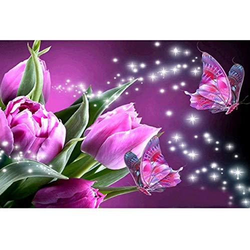 diseño simple y generoso HPCAGLL Pintura de Diamante 5D DIY Flor de de de Diamante Completo Punto de Cruz Sala de EEstrella Dormitorio decoración Pintura  precios ultra bajos