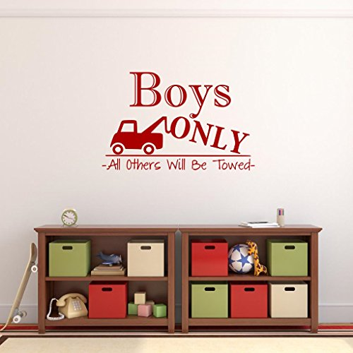 N.SunForest Boys Only Wall Decal Playroom Decal Boy Cave Wal