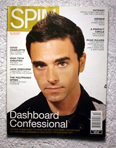 Dashboard Confessional   Chris Carrabba   Spin Magazine   October 2003   No Address Label