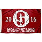 College Flags and Banners Co. Stanford Cardinal Mens 2016 Soccer Champions Flag