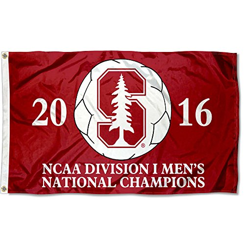 College Flags and Banners Co. Stanford Cardinal Mens 2016 Soccer Champions Flag by College Flags and Banners Co.