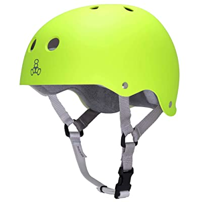 Triple 8 Sweatsaver Helmet with Sweatsaver Liner Neon Zest Skateboard Helmet - X-Small / 20.1 - 20.5: Toys & Games