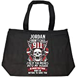 I Don't Call 911 Jordan Last Name 2nd Amendment Gun - Tote Bag With Zip