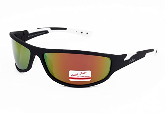 19f05e017e3 Original Beach Force Polarized Sunglasses for Sport Fire Iridium Lenses For Men  Women Cycling Outdoor Sports with UV400 Protection Anti Glare   Amazon.co.uk  ...