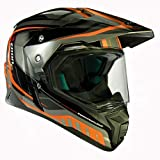 Zoan Synchrony Tourer Orange Double Lens Dual Sport Snowmobile Helmet X-Large