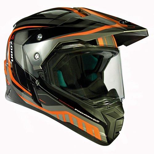 Zoan Synchrony Tourer Orange Double Lens Dual Sport Snowmobile Helmet X-Large by Zoan (Image #1)
