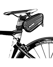 WILD MAN 1.2L Cycling Waterproof Hard Shell Bike Saddle Bag Under Seat for Road Mountain Bicycle Cycling
