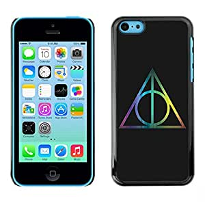 Be Good Phone Accessory // Dura Cáscara cubierta Protectora Caso Carcasa Funda de Protección para Apple Iphone 5C // triangle polygon mathematics black