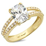 4.35ct Cushion Cut Solitaire Bridal anniversary Promise Engagement ring 14K Yellow Gold Bridal Jewelry, 7.5
