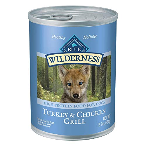 Blue-Buffalo-Wilderness-High-Protein-Grain-Free-Natural-Puppy-Wet-Dog-Food-125-oz-cans-Pack-of-12