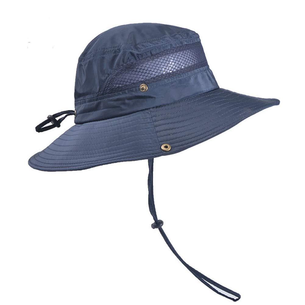 DecStore Herren Damen Sommer Sonnenhut UV Schutz Safari Hut Fischerh/üte Wasserdicht Outdoor Buschhut Hiking Bucket Hat