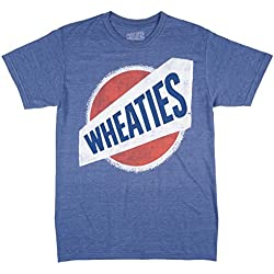 Wheaties Breakfast Cereal Mens T-Shirt in Heather Blue