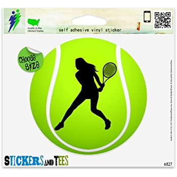 Amazon.com: De la Mujer Tenis Sport Ball Car Bumper Sticker ...