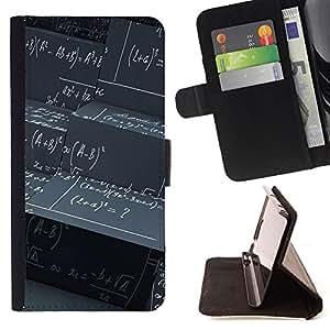 For Samsung Galaxy A3,S-type Modelo abstracto Matemáticas Ciencia- Dibujo PU billetera de cuero Funda Case Caso de la piel de la bolsa protectora