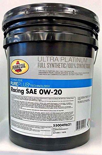 Pennzoil Ultra Platinum Racing SAE 0W-20-5 Gallon Pail