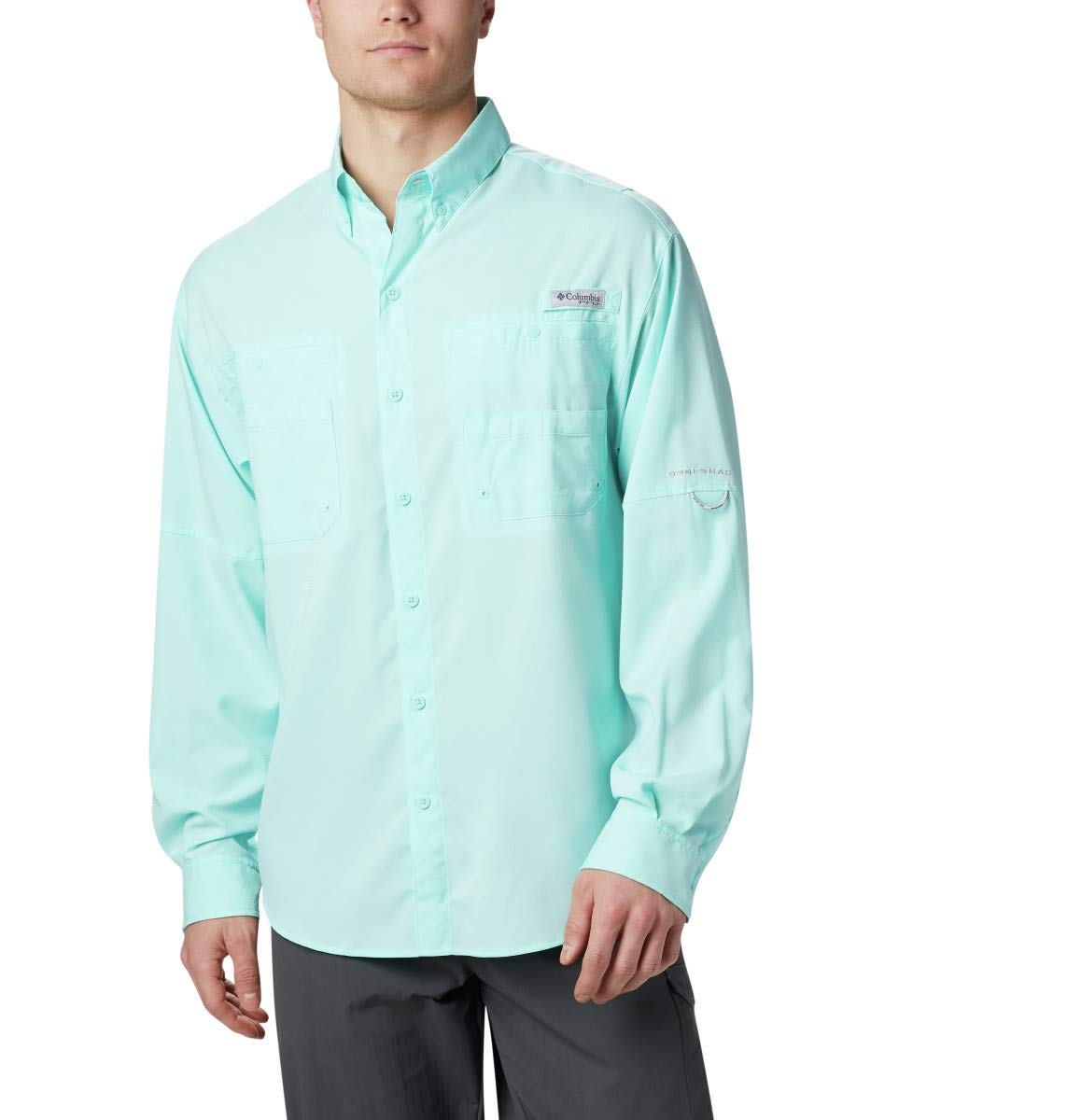 Columbia Men's PFG Tamiami II Long Sleeve Shirt - Big , Gulf Stream, X-Small