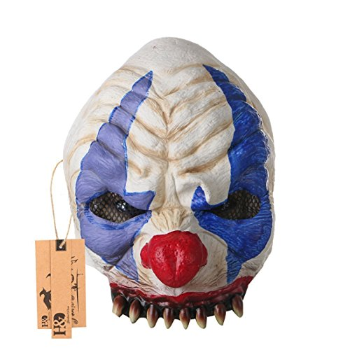 Devil In A Blue Dress Costume Ideas (YUFENG Scary Clown Mask for Adults for Halloween Party (Chinless))