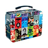 Vandor 80270 Star Trek The Next Generation Collage Shaped Tin Metal Lunchbox Tote with Handle, Large