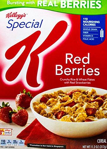 Special K Kellogg s Cereal, Red Berries, 11.2 oz