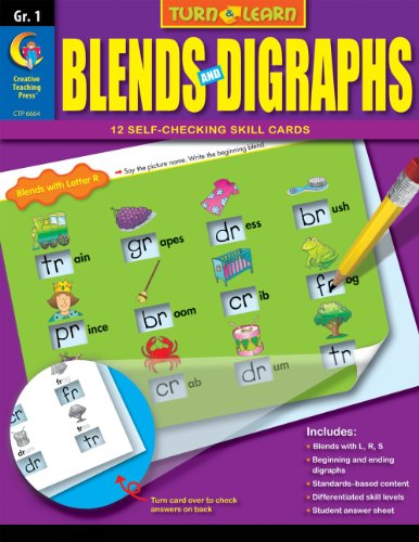 Blends and Digraphs, Turn & Learn Gr. 1
