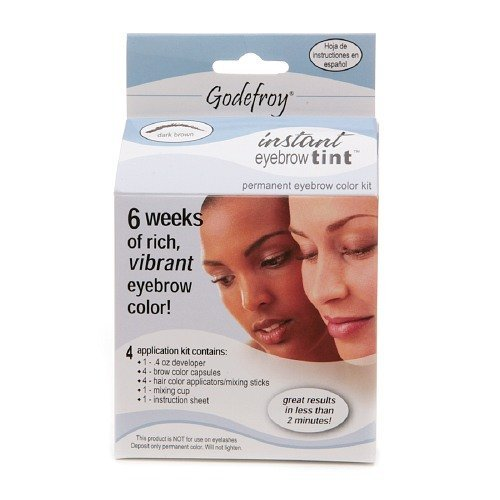 Godefroy Instant Eyebrow Tint Permanent Eyebrow Color Kit...
