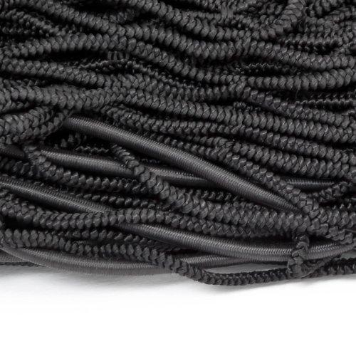 Relaxdays Filet de remorque mailles filet arrimage Protection du chargement haute résistance extensible jusque 3 x 2 m feuillage bois caoutchouc Sécurité, noir outlet