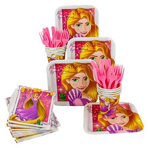Disney Rapunzel Dream Big Party Pack! Seats 8 - Cups, Napkins, Plates & Cutlery, Party -