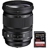 Sigma 24-105mm F/4 DG OS HSM ART Lens for Canon SLR (635-101) + Sandisk Extreme PRO SDXC 128GB UHS-1 Memory Card