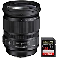 Sigma 24-105mm F/4 DG OS HSM ART Lens for Canon SLR (635-101) + Sandisk Extreme PRO SDXC 128GB UHS-1 Memory Card