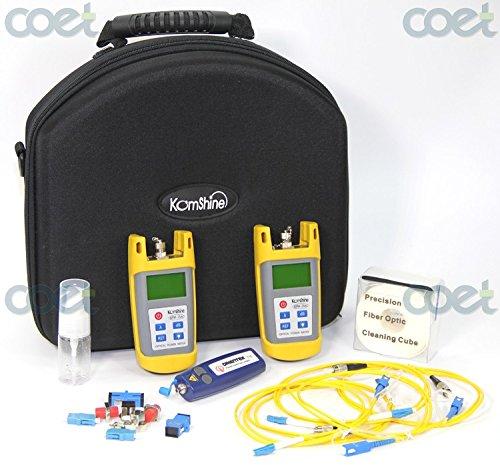 Komshine Basic optic fiber Loss Tester KLT-25M Optical Fiber Loss Test Kit with Optical Power Meter / Optical Light Source / VFL 1mw