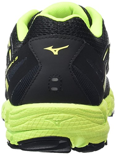 Mizuno Wave Kien 3, Scarpe da Corsa Uomo Nero (Black/Dark Shadow/Safety Yellow)