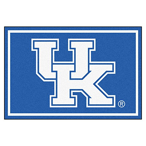 NCAA University of Kentucky Wildcats 5 x 8 Foot Plush Non-Skid Area Rug ()