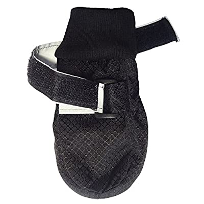 Hiado Dog Shoe Boots with Non Slipping Soft Soles to Protect Paw and Hardwood Floors