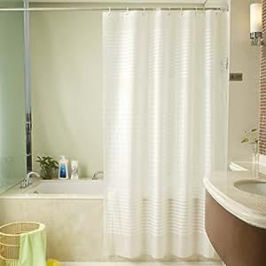 Amazon.com: ZISU Shower Curtain Liner with Hooks PEVA