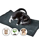 Large Thermal Pet Warming Bed - Best For Dogs and Cats - 100% Pet Friendly and Soft Pet Mat- XL- Couch Protecting Pet Pad (Gray)