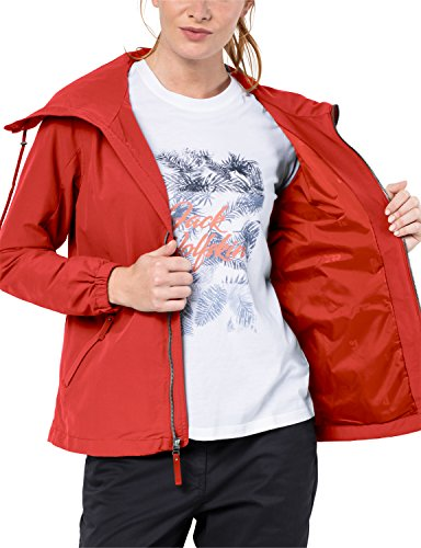 Red Water Jack Jacket ladies Proof Wolfskin Westwood Womens Vento Resistant Volcano OvPwB1