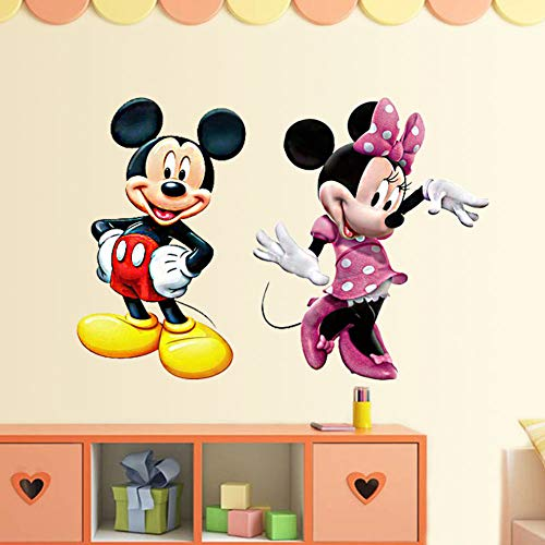 SchwartsCount Mickey Mouse Wall Decal Cartoon Kids Room Art Peel and Stick Mural