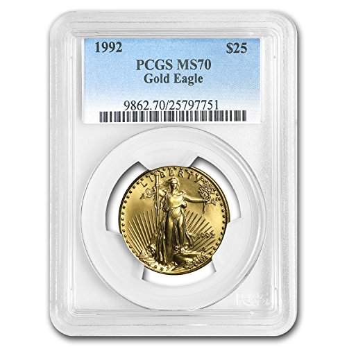 1992 1/2 oz Gold American Eagle MS-70 PCGS Gold MS-70 PCGS